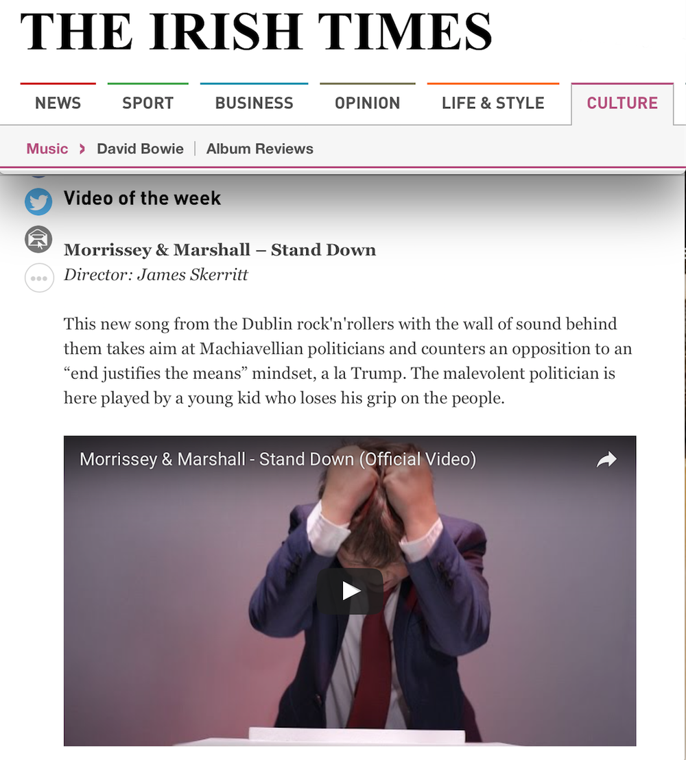 Video Of The Week on The Irish Times