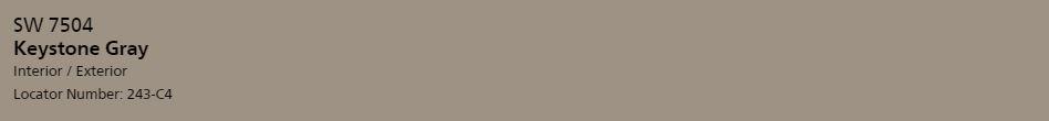 Keystone Gray Sw 7504 The Home Coloriste