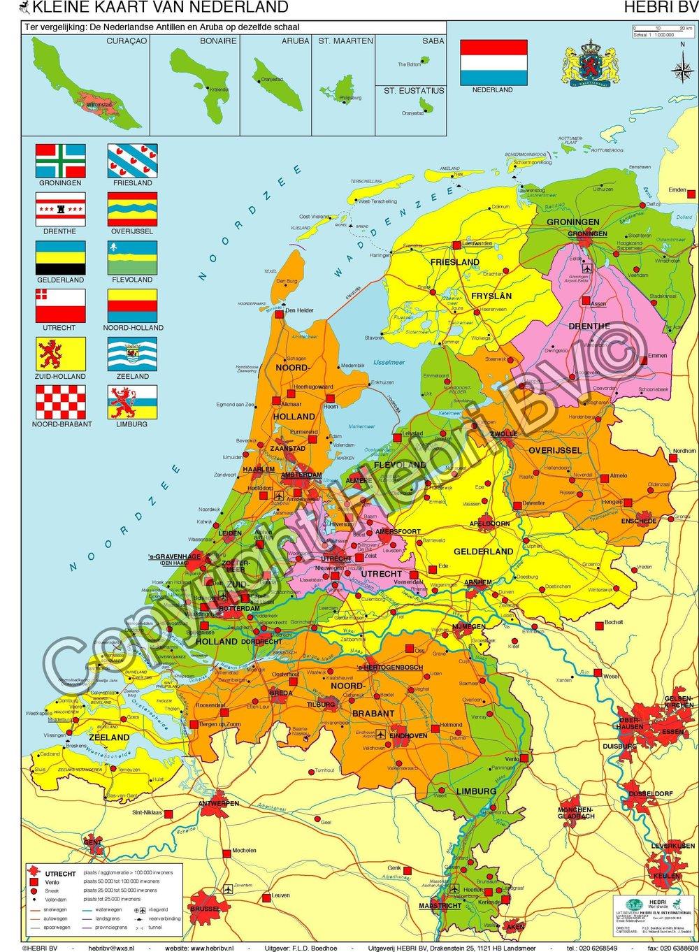 De minikaart van  Nederland