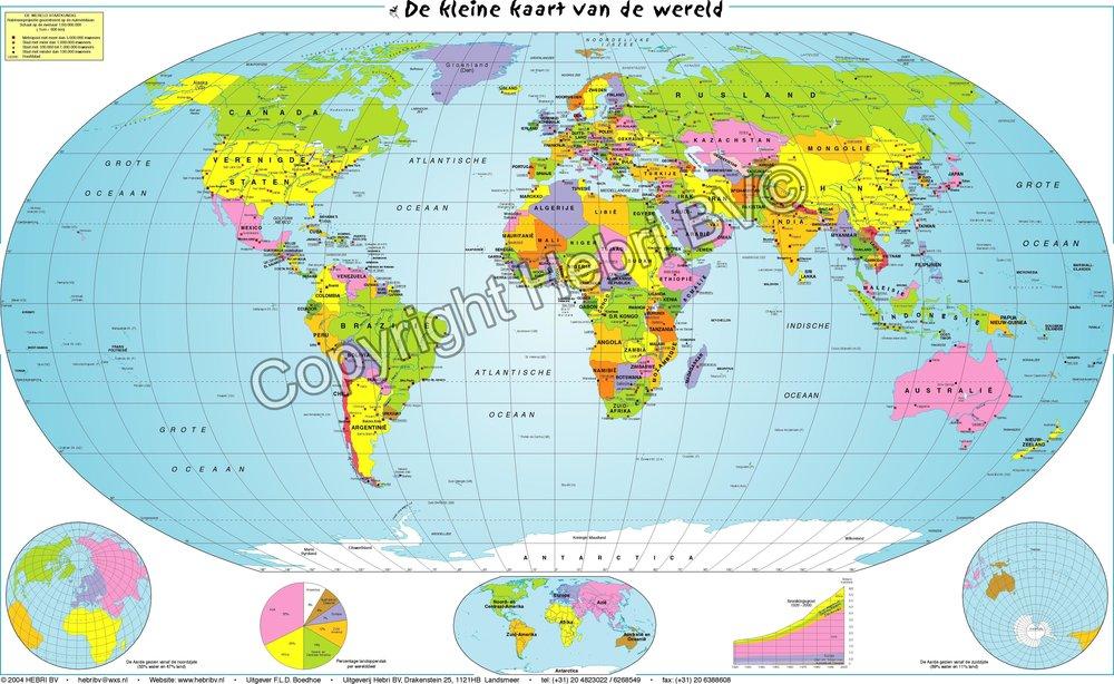 De minikaart van  de Wereld