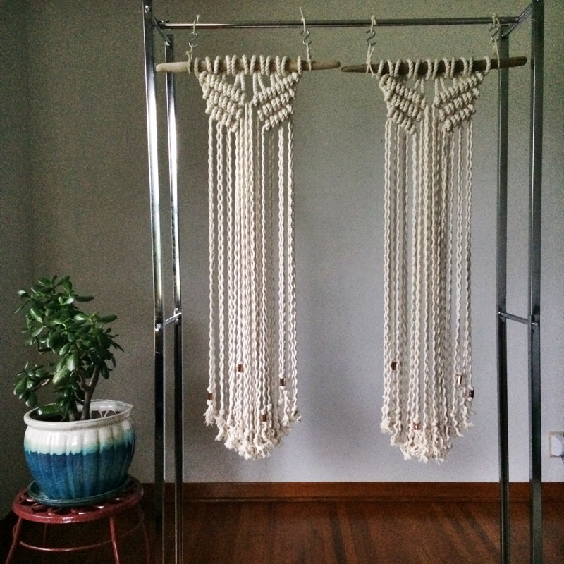 custom macrame house sparrow nesting