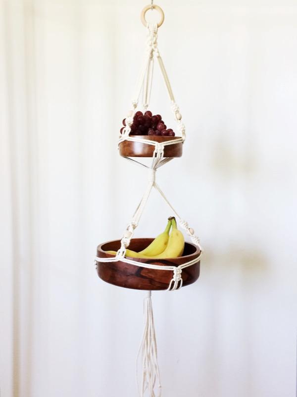 macrame fruit bowl hanger house sparrow nesting