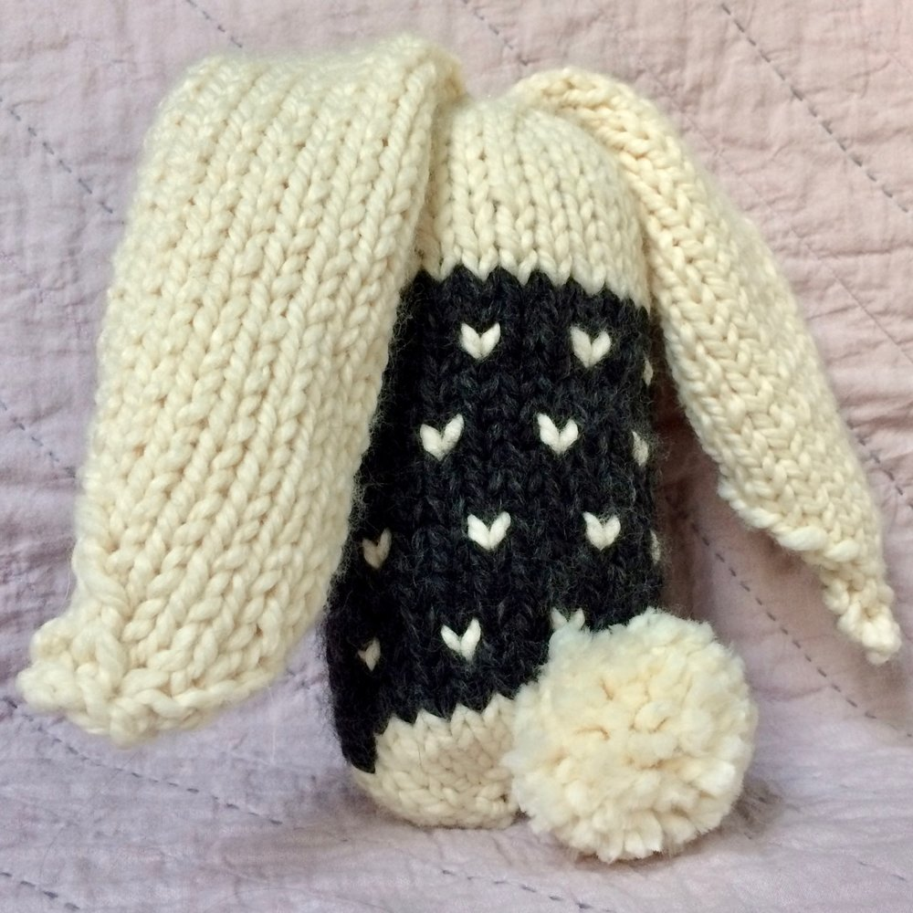 Knit quick knit chunky bunny lovie house sparrow fine nesting if this sweater wearing chunky knit bunny could be anywhere anywhere in the world it would want to be in your holiday knitting basket bankloansurffo Choice Image