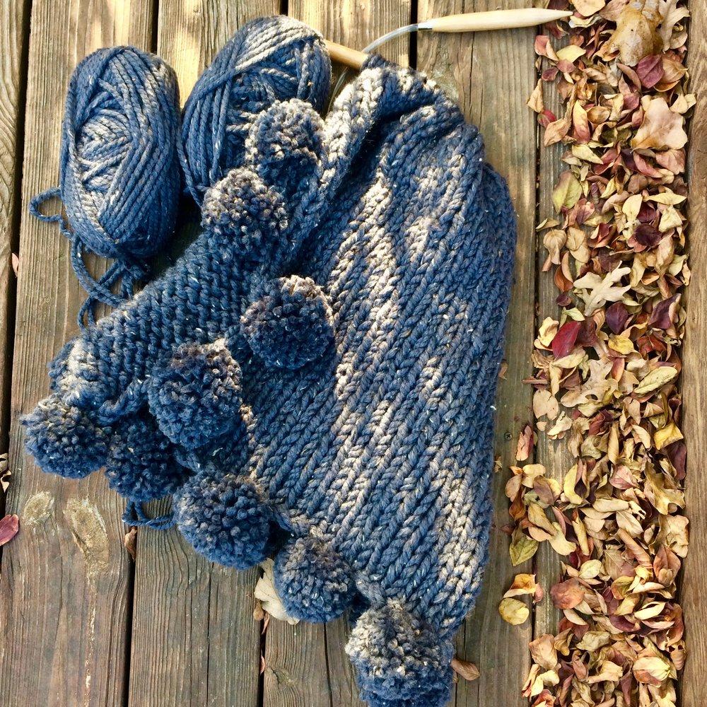 knitting kit sweater chunky blanket pom poms.jpg