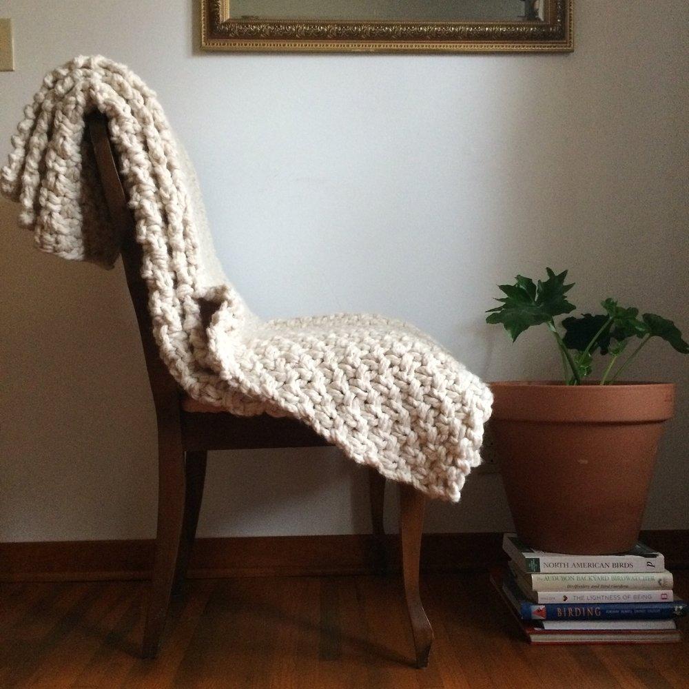 House Sparrow Fine Nesting Sweater Blanket knit chunky blanket.JPG