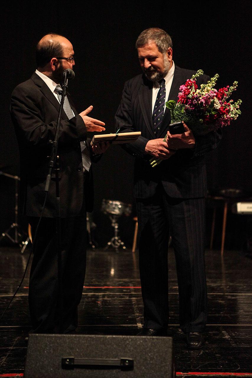 Badveli Sevag Trashian welcoming Mr. Adorján Kálmán