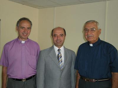 (L to R): Rev. Rene Leonian, Rev. Paul Haidostian, Rev. John Khanjian