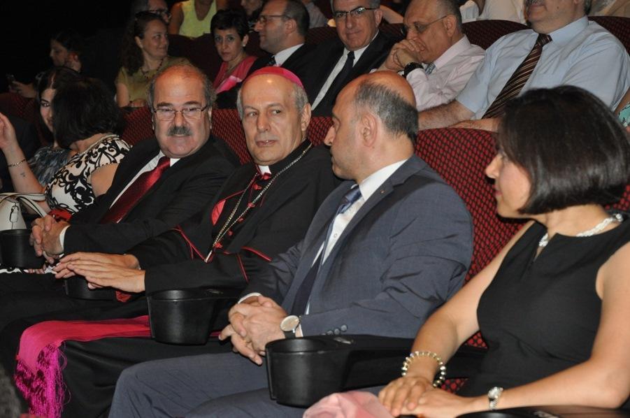 Rev. Megerdich Karagoezian, Mgr.Gabriel Caccia, Rev. Paul Haidostian