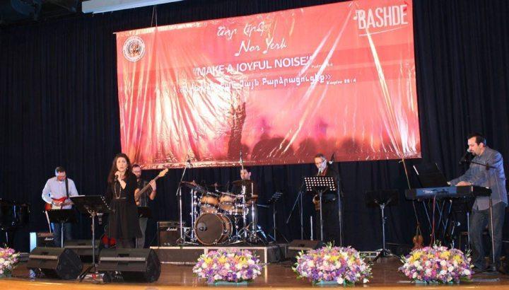 (L to R)Rev. Hrag Karagoezian, Houry-Dora Apartian, Arek Karagoezian, Rev. Nishan Bakalian, Gilbert Hovsepian
