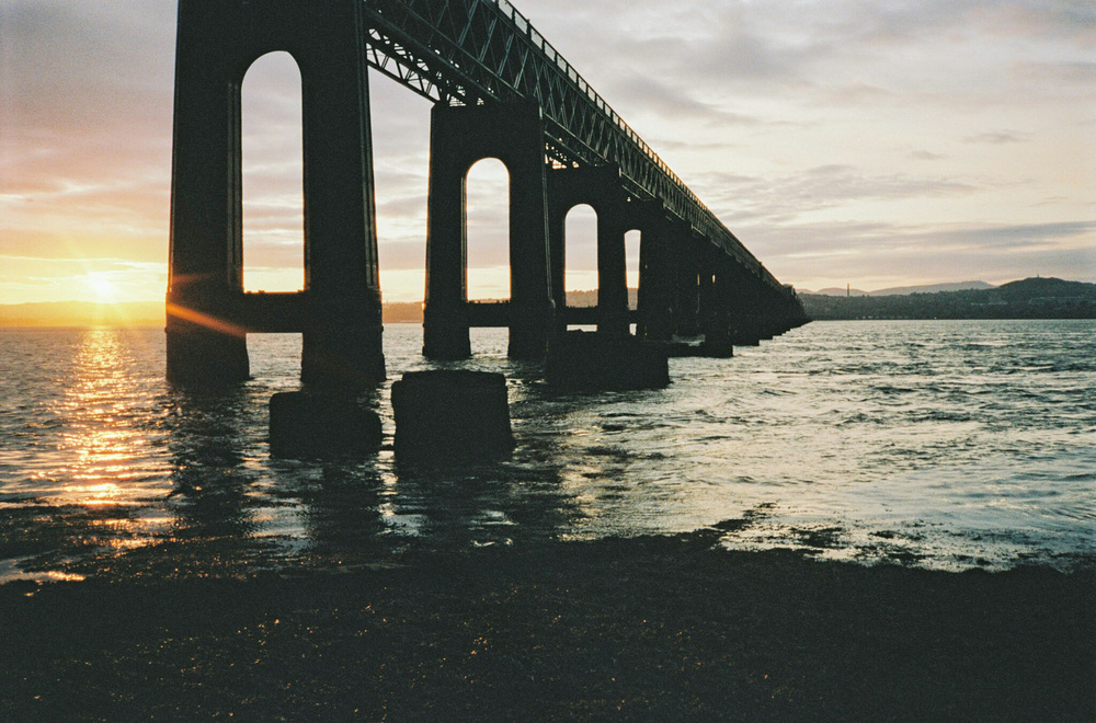 Tay Bridge Sunset on Portra 400