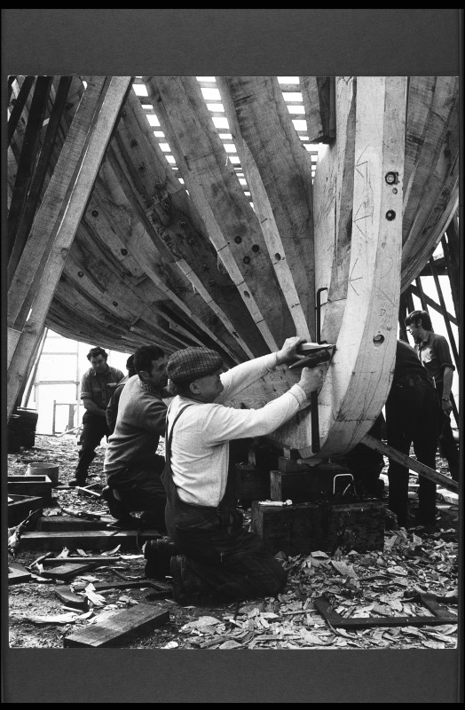Boatbuilders at work.  G.Little 1970