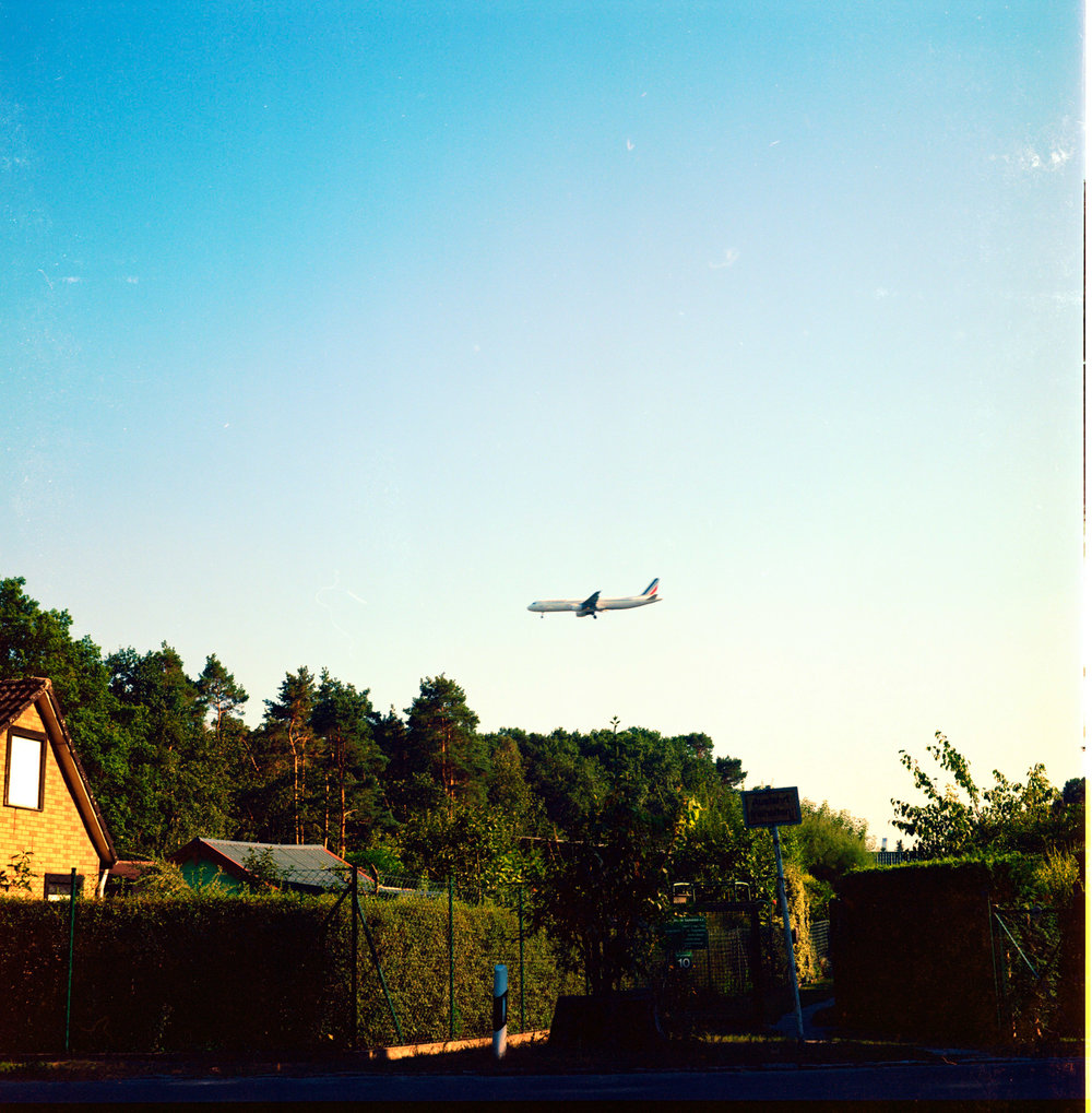 Coming in to land at Berlin - Kodak Ektar 100.