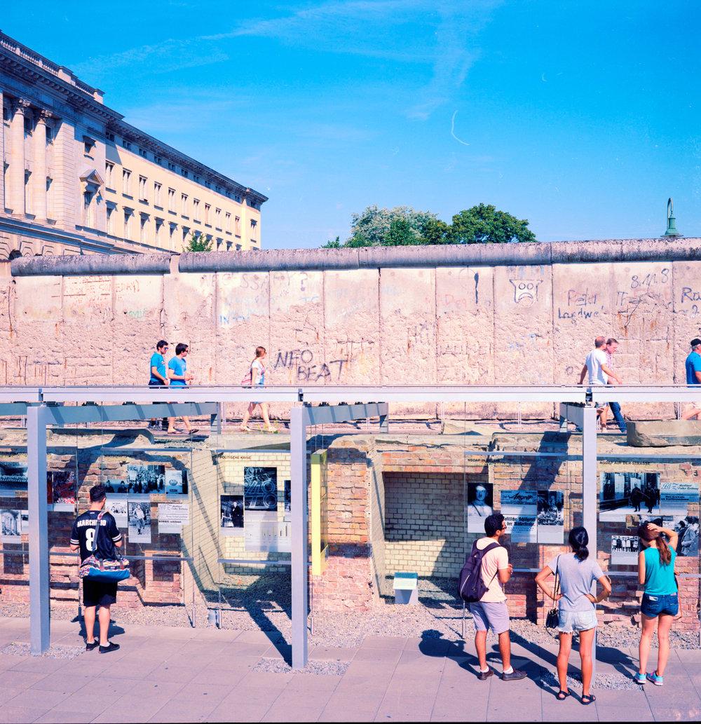 Berlin Wall -Kodak Ektar 100.
