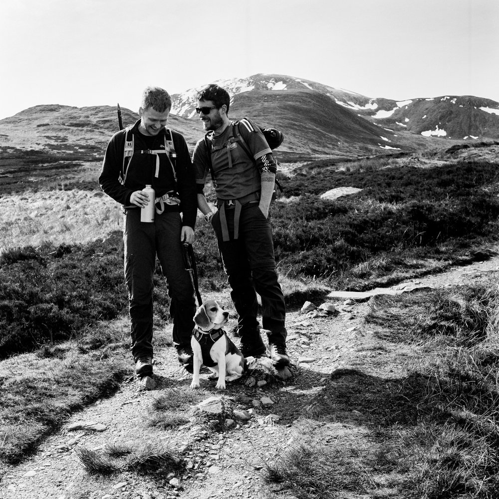 Al and Ferg ready to climb - Kodak Tmax400