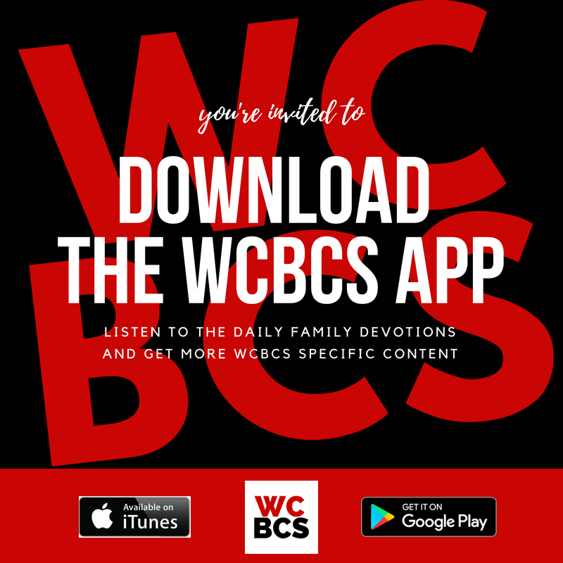 Download the WCBCS app in iTunes   Download the WCBCS app in the Google Play Store