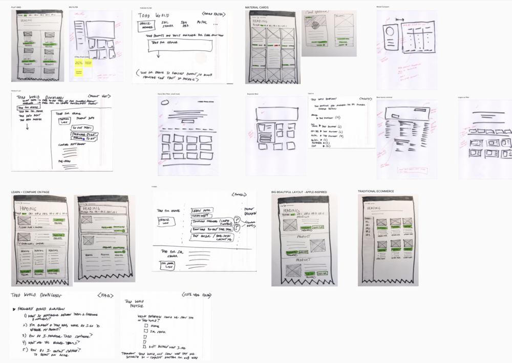My Work - My work involves a variety of areas in UX, from research to content design to user interface design, as well as projects that span the entire process.