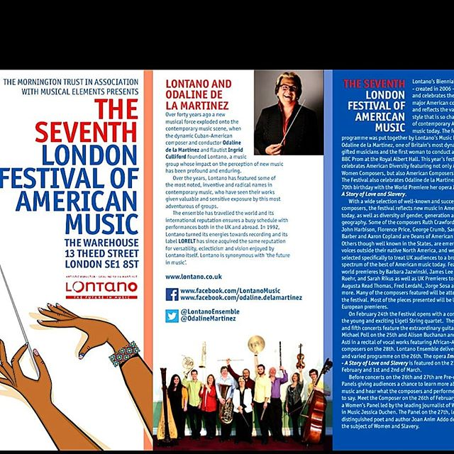 Something a little different for us. Part of the Seventh London Festival of American Music. We are singing in the opera Imoinda - libretto by Joan Anim Additional, composed by Odaline de la Martinez. The world premiere of the complete trilogy.  The festival runs from 24 Feb - 2 Mar.  http://bit.do/eEHdH  #londonfestivalofamericanmusic #odalinedelamartinez  #lontano  #joananimaddo  #singingyourstories