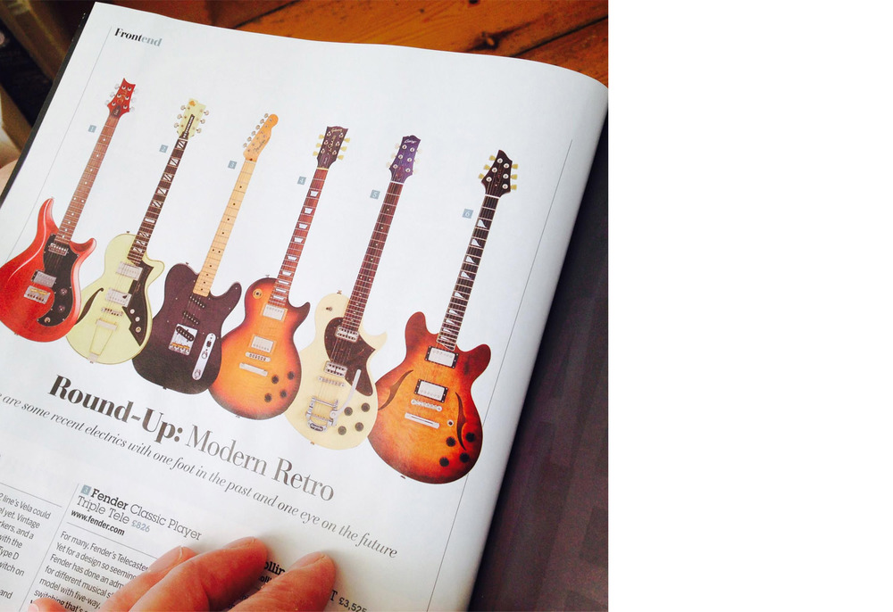 J25 Semi-hollow in Guitarist magazine