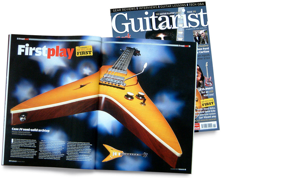Case JV in Guitarist magazine