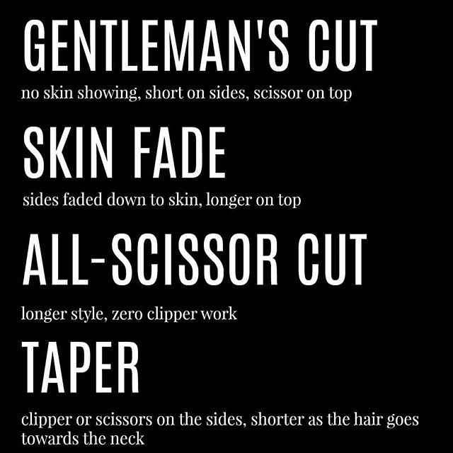 We're planning our training schedule! DM us with your full name, your phone number, and the type of haircut you get from this list, and we'll be in contact with free training services. 🙌🏼