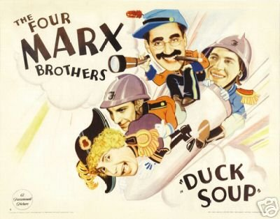 Duck Soup  (1933) is one of the best-known Marx Brothers movies.