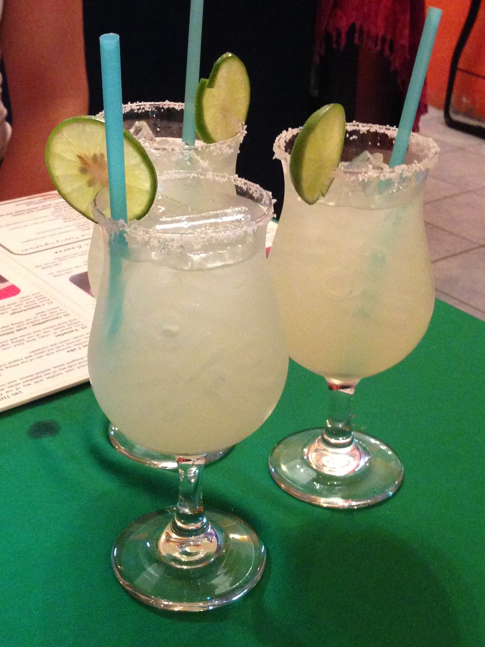 Taking a break from Thai beer and whiskey for some margaritas.