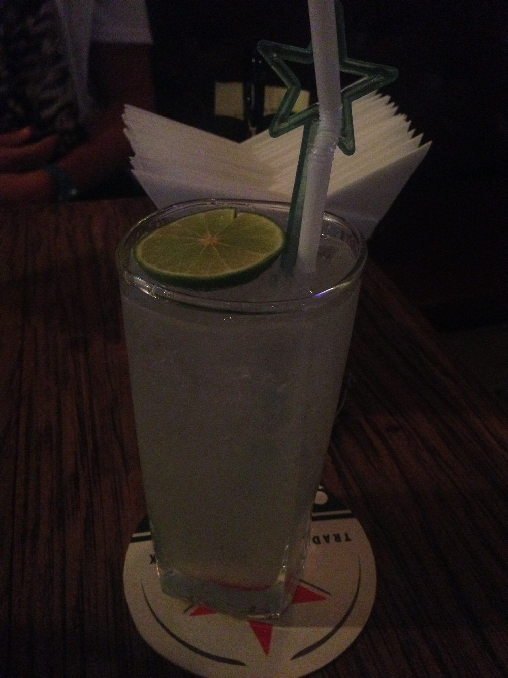 Some sort of lime drink I had at a Jazz Club.