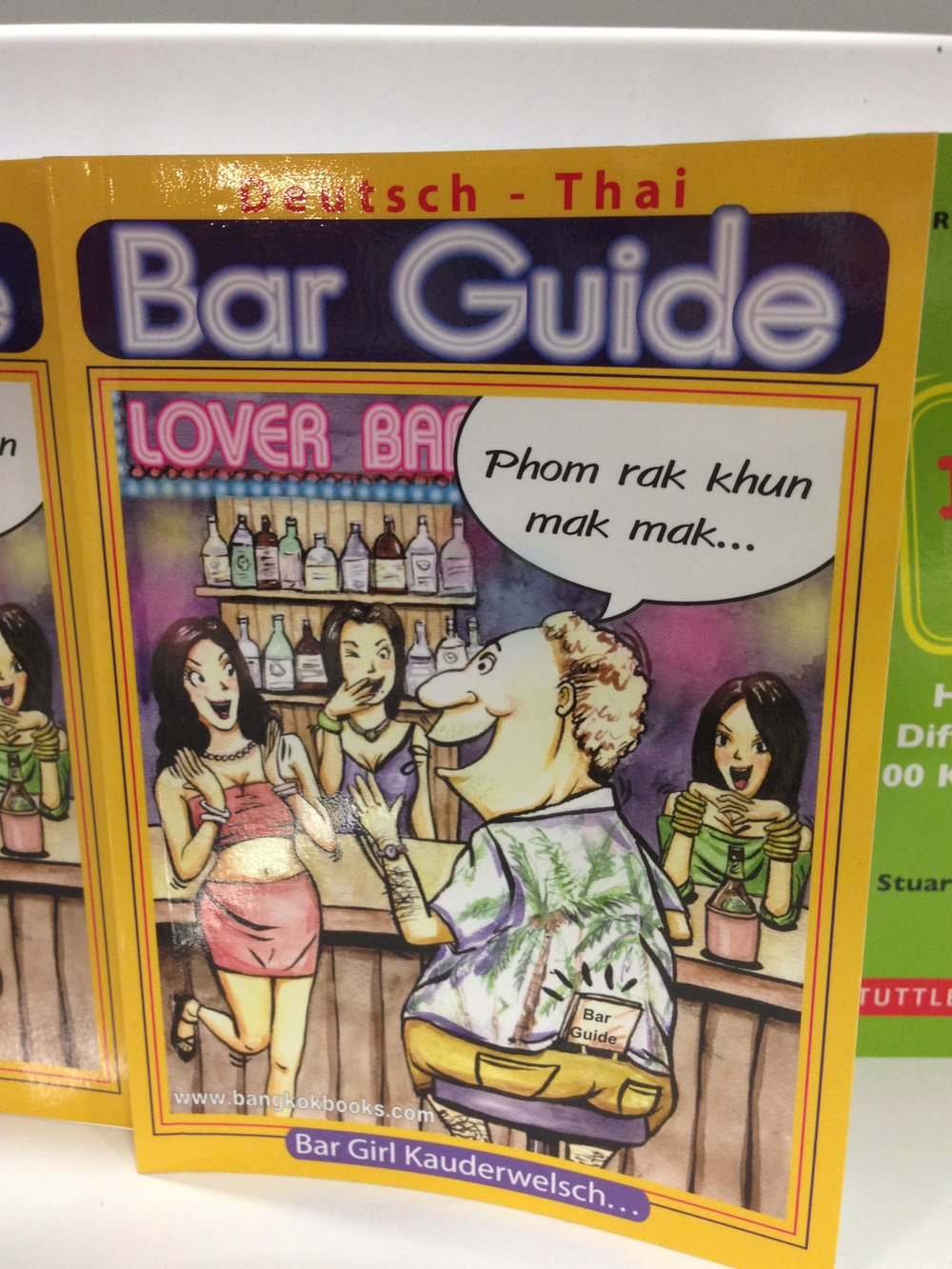 Even guides to Thai bars were sold in various languages.