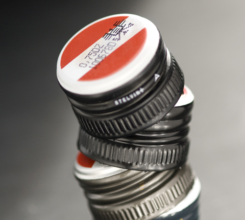 All Austrian wine bottles have these distinctive caps.
