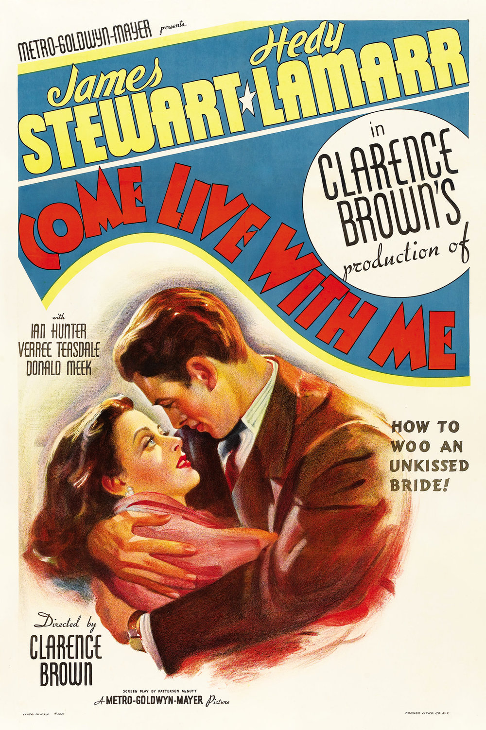 Adeline's first feature film role,  Come Live with Me  (1941).