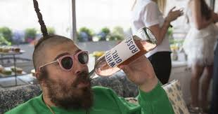 'The Fat Jew' enjoying his own White Girl Rose.