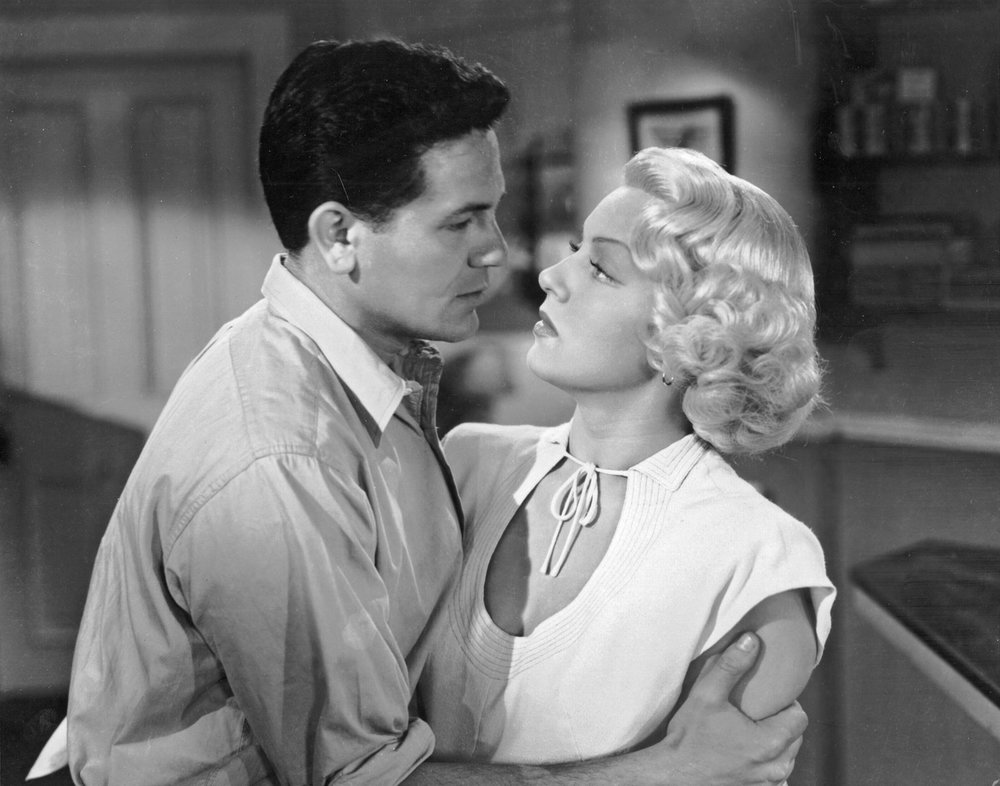 "John Garfield: ""You're beautiful.""      Lana Turner: ""No, you're beautiful."""