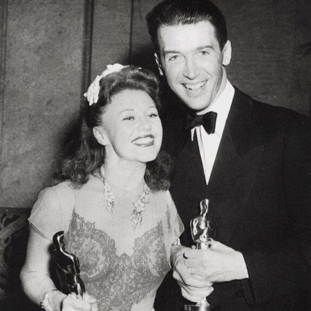 Who's watching #theoscars tonight!? I'm looking back to when two of my favorite stars won in the same year! #GingerRogers won for Kitty Foyle and #JamesStewart won for The Philadelphia Story at the 13th #AcademyAwards!