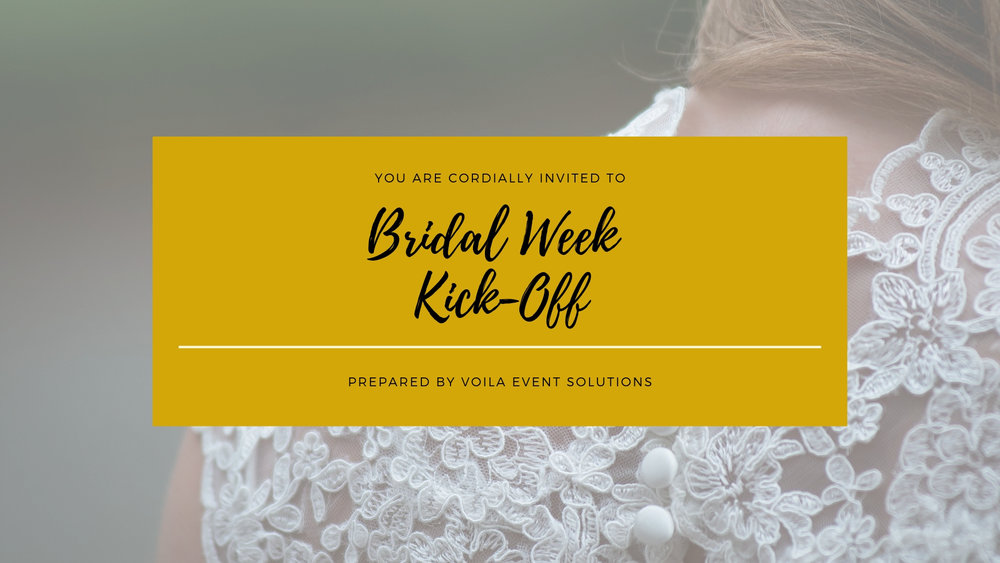 Click here for more information on our bridal packed experience on Thursday, April 11, 2019.