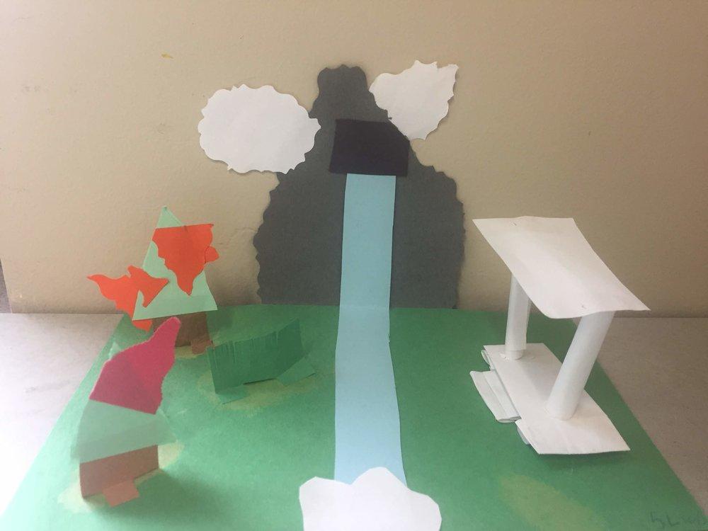 Paper Sculpture by fifth grade artist, Jurem (Leurquin)
