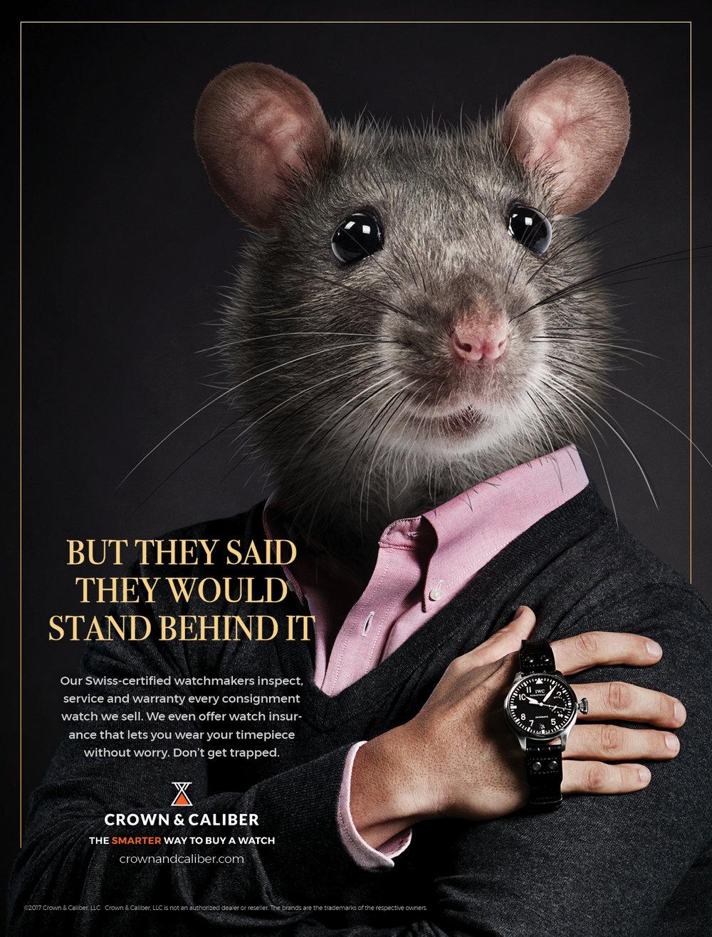 """BarberWarren Crown & Caliber """"Mouse"""" print ad"""