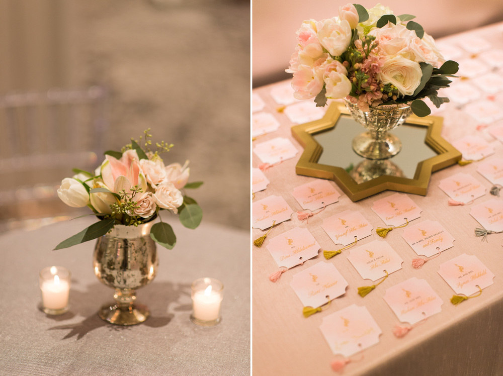 Florida Wedding Reception Escort Card Table with Flowers
