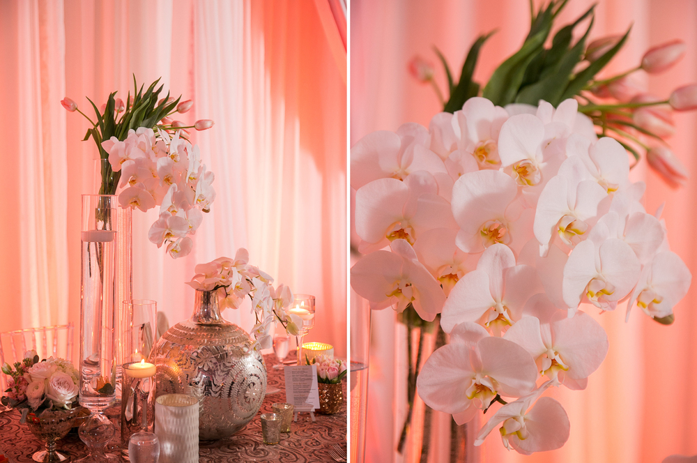 Wedding in Florida with Orchid Table Centerpieces