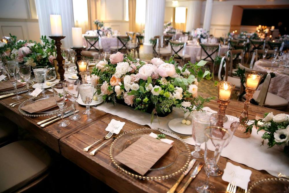 Amway Grand Plaza Imperial Ballroom Wedding Rustic Decor