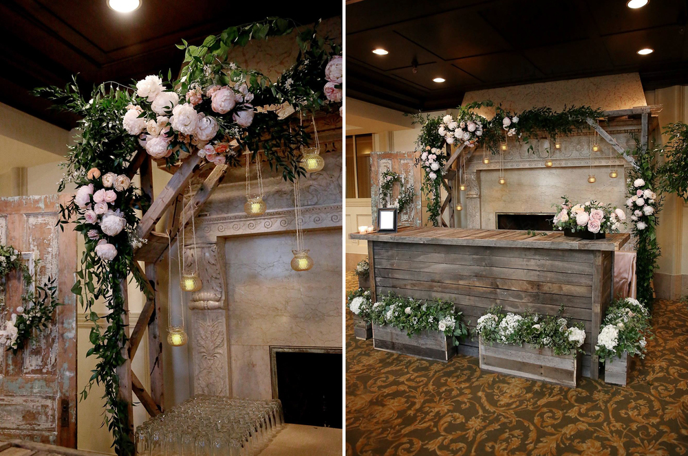 Grand Rapids, Michigan Wedding Custom Wood Bar