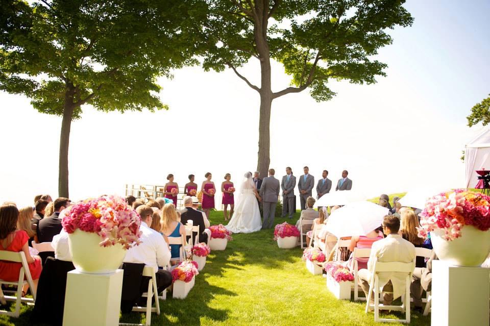 Beautiful Outdoor Wedding on Lake Michigan