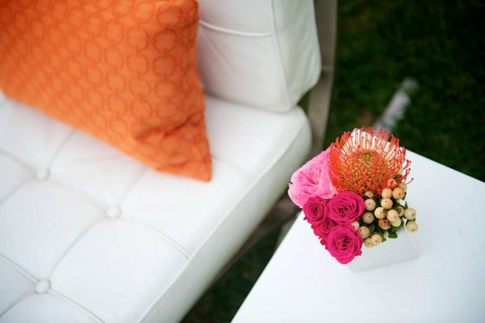 bright wedding reception details grand rapids florist