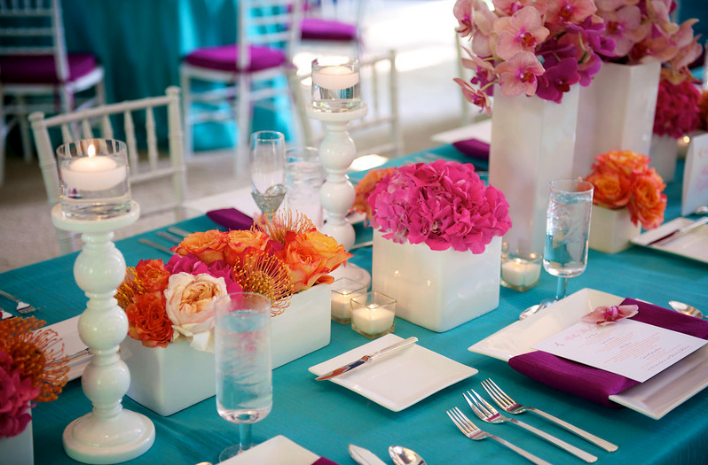 bright floral pieces for wedding michigan event planner