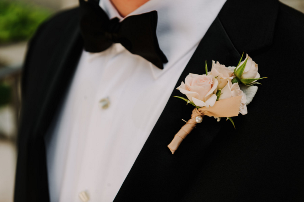 Grand Rapids, Michigan Wedding Groom Boutonniere