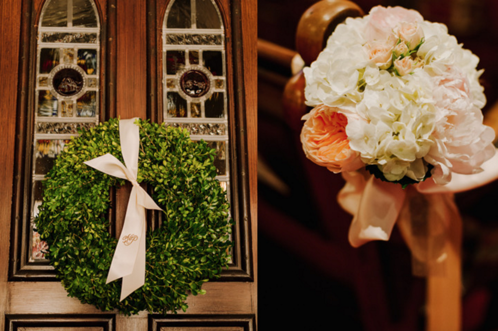St. Mark's Episcopal Church Wedding Flower Details