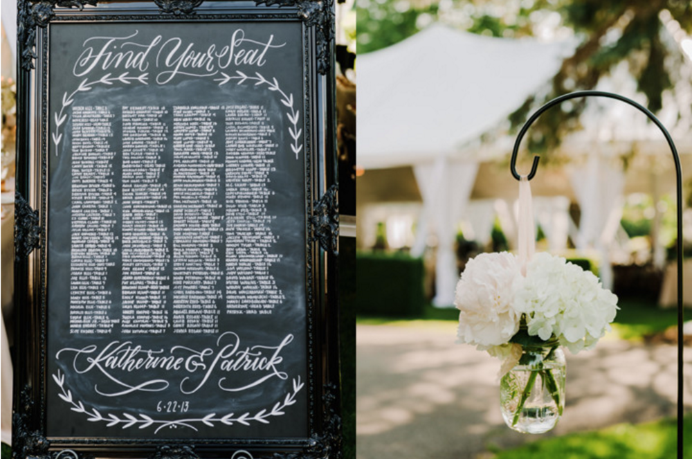 Blythefield Country Club Wedding Seating Chart