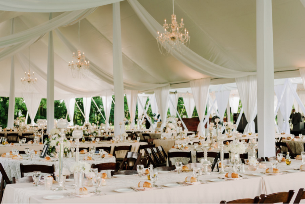 Blythefield Country Club White Tented Wedding