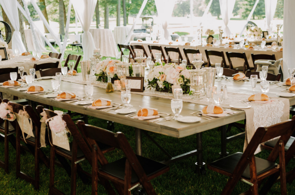 Blythefield Country Club Wedding Farm Tables