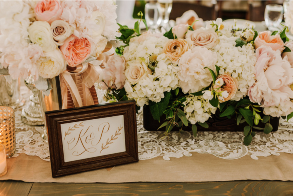 Blythefield Country Club Calligraphy Table Number