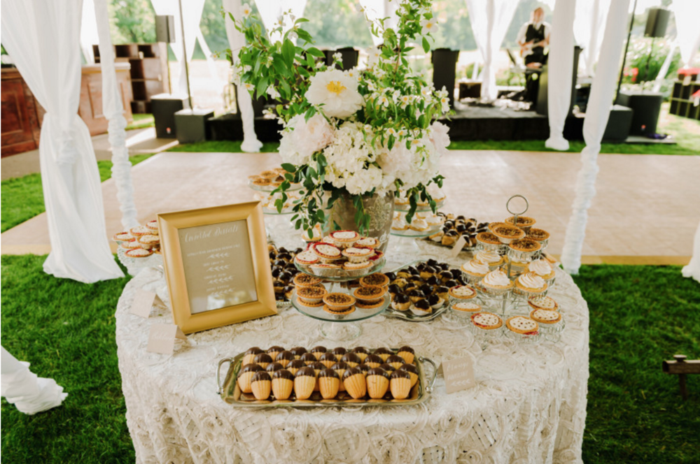 Blythefield Country Club Wedding Desert Table